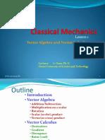 Classical Mechanics Lesson 1 - Vector algebra and Vector Calculus.pdf