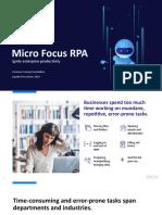 Micro Focus Rpa Customer Facing Presentation
