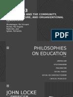 PROFED3 PPT EDUCATIONAL PHILOSOPHIES