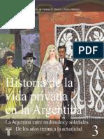 BARRANCOS, Dora (1999) Moral sexual, sexualidad y mujeres en el período de entreguerras en Historia de la vida privada en Argentina - Vol. 3  - Devoto, Fernando (2)