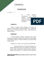 20191230 - Legitimidade PR altera funcionamento sessão ordinária