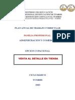 PROGRAMACION CURRICULAR CETPRO 002 TUMBES PLAN ANUAL TRABAJANDO EN CETPRO