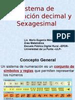 Sistema de numeración decimal y sexagesimal