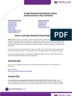 How to Calculate Standard Patent Expiry Dates and Data Exclusivity