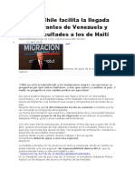 Por qué Chile facilita la llegada de inmigrantes de Venezuela y pone dificultades a los de Haití