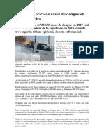 Récord histórico de casos de dengue en Latinoamérica