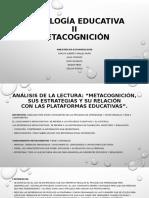 PSICOLOGÍA EDUCATIVA - METACOGNICIÓN