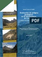 Evaluacion de peligros geologicos en la microcuenca del Ccochoc - Calca