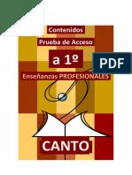 CANTO - Contenidos Prueba de acceso a PRIMERO de CANTO Enseñanzas Profesionales 2020 - copia