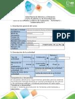 Guía de actividades y rúbrica de evaluación - Actividad 2  - Colaborativo N°1