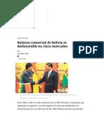 Balanza comercial de Bolivia es desfavorable en cinco mercados _ ElDeber.com.bo