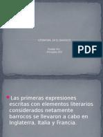 LITERATURA EN EL BARROCO