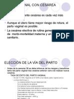 parto normal vs cesarea