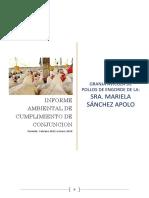 Informe de cumplimiento ambiental de Conjunción Avícola