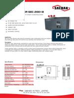 Enfriador Electrico Panel Sec-2001b
