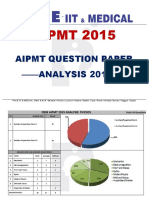 AIPMTQUESTIONPAPERANALYSIS2015
