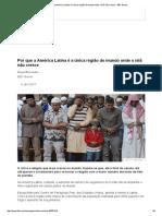 Por que a América Latina é a única região do mundo onde o islã não cresce - BBC Brasil