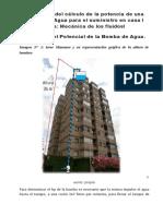 Aplicación del cálculo de la potencia de una Bomba de Agua para el suministro en casa.docx