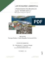 Ficha y plan de manejo ambiental - operación y mantenimiento de la descabezadora de camarón
