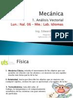 Mecánica 1. Análisis Vectorial