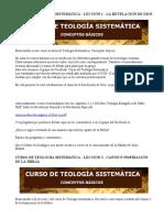 CURSO DE TEOLOGÍA SISTEMÁTICA