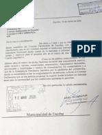 Carta del Intendente al HCD de Escobar