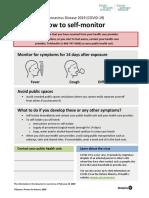 Factsheet Covid 19 Self Monitor