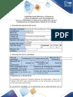 Guía de actividades y rúbrica de evaluación - Tarea 1 - Fundamentos de Seguridad y Salud en el Trabajo