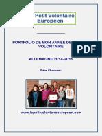 PORTFOLIO DE MON ANNÉE DE SERVICE VOLONTAIRE EN ALLEMAGNE 2014-2015 REMI CHAUVEAU