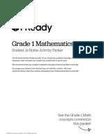 grade 1 math packet