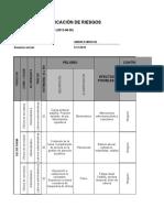 Matriz para la dentificacio de peligros, valoracion de riesgos y determinacion de controles