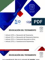 REVOCACIÓN Y REFORMA DEL  TESTAMENTO