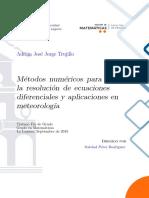 Métodos numéricos para la resolución de ecuaciones diferenciales y aplicaciones en meteorología