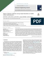impact of plenum condition and gas-liquid distributor on bubble column hydrodynamics