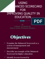 Imroving Quality Through BSC