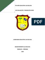 SISTEMA DE EVALUACION Y PROMOCION 2020