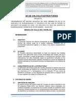 MEMORIA DE ESTRUCTURAS IE 38481