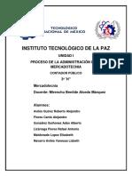 Unidad i. Proceso de La Administración de La Mercadotecnia