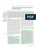 The psychological impact of quarantine and how to reduce it- rapid review of the evidence