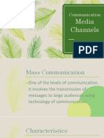 Communication Media Channels (Wren and Shaine)