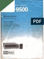 Edv9500 Owners Manual