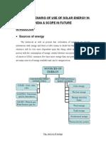 14122033 Present Scenario of Solar Energy in India and Scope in Future DOC