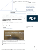 Cómo arreglar error de arranque Windows_ NTLDR is missing - Solvetic