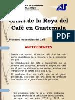 PRESENTACIÓN CRISIS DE LA ROYA DEL CAFÉ EN GUATEMALA