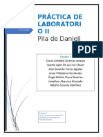 PRACTICA II PILA DE DANIELL