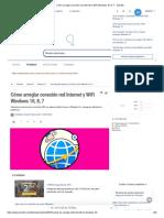 Cómo arreglar conexión red Internet y WiFi Windows 10, 8, 7 - Solvetic.pdf