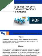 Informe Gerencia de Administracion y Finanzas 2016 actualizada 21-04-2017 Ela