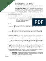 INSTRUMENTACION PARA BANDAS DE MUSICA