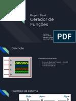 Circuito para gerador de funcoes