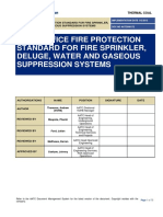 Fire Protection Standard for Fire Sprinkler, Deluge, Water and Gaseous Suppression Systems
